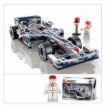 Конструктор пластиковый Формула 1 Серебрянный гоночный автомобиль (257 дет. , 1 фигур. )
