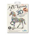 3D-пазл Арттерапия Конь для расскрашивания Арт. 02591