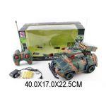 Военная машина р/у, 4 канала, 3D свет, музыка, аккум.