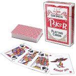 Карты игральные покерные 54шт/колода ламинированный картон, картонная упаковка 6, 4*8, 9*1, 9см