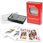 Карты игральные покерные 54шт/колода пластик, пластиковый бокс, картонная упаковка 6, 5*9, 2*2см