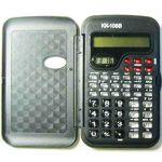 Калькулятор инженерный 10-разрядный 13, 3*7, 8*1, 4см с крышкой, с часами, индивидуальная упаковка