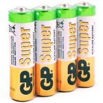 Батарейка GP LR6 АА (упаковка 4шт) (цена за упаковку)