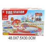 Пожарная станция с дорогой, 2 машины ин.