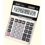 Калькулятор UNIEL (14 разрядов) бухгалтерский, двойное питание, чёрный