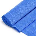 Бумага гофрированная поделочная 50*250см синий