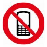 Наклейка Запрещено телефон (106х106)
