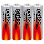 Батарейка PERFEO AA DYNAMIC ZINC R6/4SH пальчиковые (спайка 4шт) (цена за спайку)