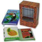 Подарочный канцелярский набор ЗООПАРК ВИД 1 (2 записные книжки, блок для записей)